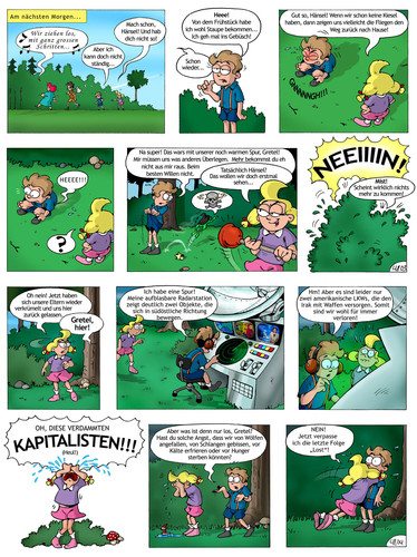Cartoon: Hänsel und Gretel Adaption (medium) by Bartzillus tagged hänsel,und,gretel,adaption,märchen,gebrüder,grimm,brüder