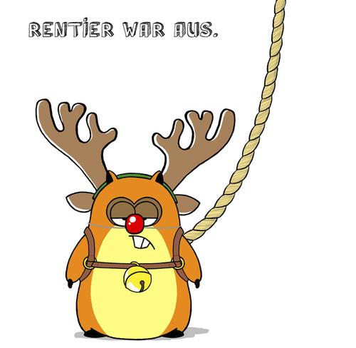 Rentier war aus. von Bartzillus   Religion Cartoon   TOONPOOL