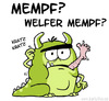 Cartoon: Mempf? (small) by Bartzillus tagged monster,alien,mensch,fressen,tier,bestie,menschenfresser,kannibale