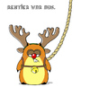 Cartoon: Rentier war aus. (small) by Bartz tagged christmas,weihnachten,rentier,rudolph,hamster,power,yoga