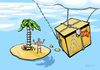 Cartoon: Patience was worth (small) by Kamil tagged lonely,island