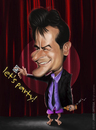 Cartoon: Charlie Sheen (small) by jaime ortega tagged charlie,sheen