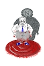Cartoon: Henry Kissinger (small) by petwall tagged kissinger,verbrechen,vietnam,laos,kambodcha,chile,lateinamerika,nahost