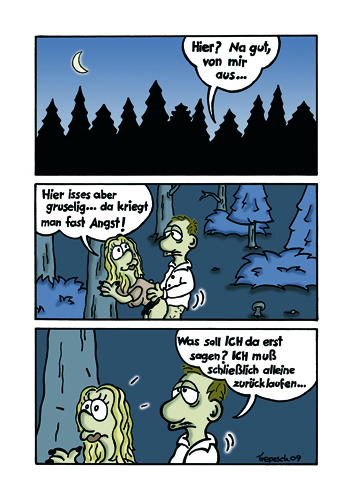 Cartoon: A Forest (medium) by Marcus Trepesch tagged forest,cartoon