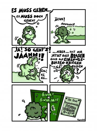 Cartoon: Es MUSS Gehen! (medium) by Marcus Trepesch tagged