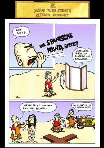Cartoon: Passion Part 10 (medium) by Marcus Trepesch tagged golgotha,jesus
