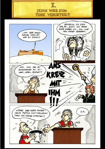 Cartoon: Passion Part 10 (medium) by Marcus Trepesch tagged jesus,passion,religion,funnies