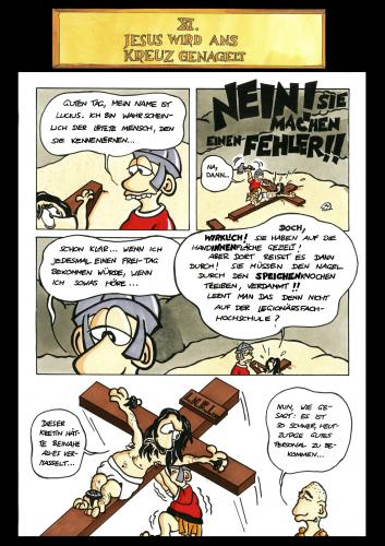 Cartoon: Passion Part 11 (medium) by Marcus Trepesch tagged jesus,religion,funnie,torture