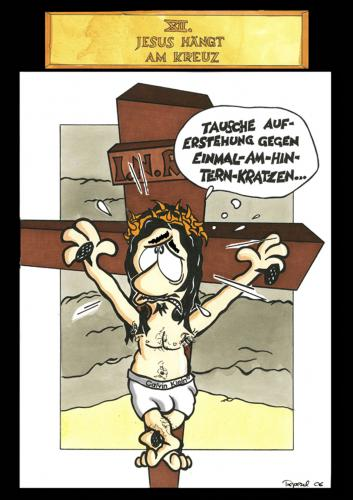 Cartoon: Passion Part 12 (medium) by Marcus Trepesch tagged jesus,religion,funnie,torture