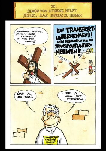 Cartoon: Passion Part 5 (medium) by Marcus Trepesch tagged jesus,irony,iron,funnies,fun