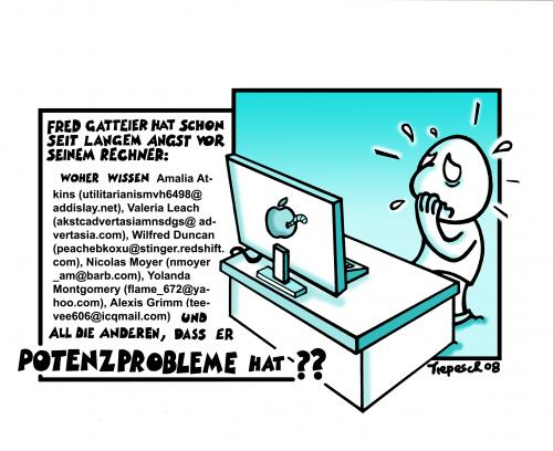 Cartoon: Potenzprobleme (medium) by Marcus Trepesch tagged windows