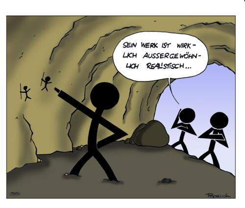 Cartoon: Realistisches Werk (medium) by Marcus Trepesch tagged nonsense