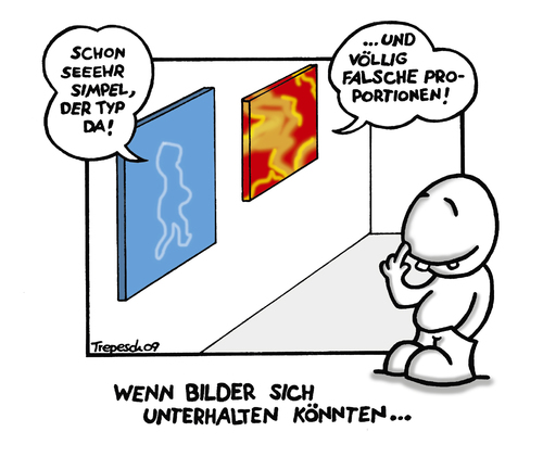 Cartoon: Sehr Simpel.... (medium) by Marcus Trepesch tagged art,museum,funnies,cartoon,comic