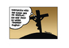 Cartoon: Jesus Not Really Fit (small) by Marcus Trepesch tagged jesus religion catholic golgotha jerusalem cartoon