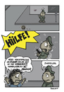 Cartoon: Zweifellos (small) by Marcus Trepesch tagged cartoon,comic,police,life