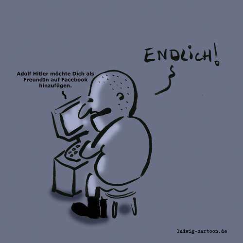 Cartoon: Endlich (medium) by Ludwig tagged zuckerbook