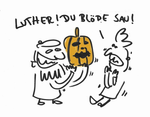 Cartoon: Happy Hallomation Day! (medium) by Ludwig tagged halloween,reformation,luther