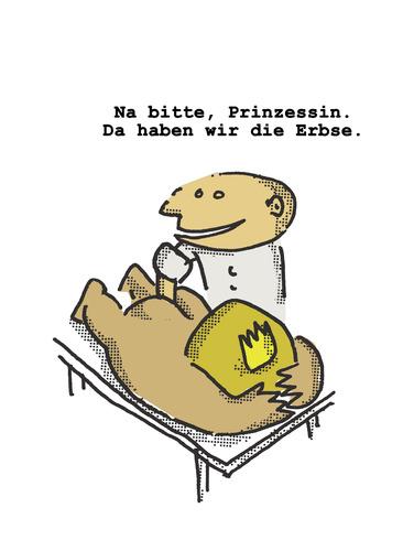 Prinzessin auf der erbse comic  Prinzessin mit der Erbse von Ludwig | Berühmte Personen Cartoon ...