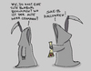 Cartoon: Tod an Halloween (small) by Ludwig tagged halloween,tod,death,kinder,trick,or,treat,süßes,oder,saures