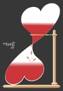 Cartoon: Time to love (small) by Tonho tagged time hourglass