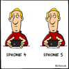 Cartoon: iPhone 5 (small) by Holtschulte tagged apple,keynote,iphone,telefon,16zu9,länger,screen,bildschirm