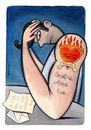 Cartoon: all loves are indelible (small) by Pecchia tagged cartoon humaou love pecchia