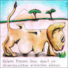 Cartoon: Katzen fressen Gras (small) by Storch tagged rollstuhl,löwe,afrika,savanne,gras