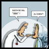 Cartoon: AAA (small) by Anjo tagged aaa,triple,standard,and,poors,rating,agentur,ratingagentur,abwerten,euro,eurozone,arzt