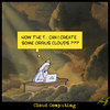 Cartoon: Cloud Computing (small) by Anjo tagged cloud,computing,cebit,network,netzwerk,gott,god,petrus,wetter,technik,weather,rain