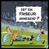 Cartoon: Friseur (small) by Anjo tagged wm,em,fussball,frau,frauenfussball