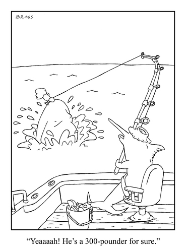 Cartoon: big catch (medium) by creative jones tagged humaning,fishing,300pounder,humaning,fishing,300pounder