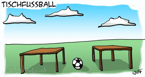 Cartoon: Tischfußball (medium) by Belzebub tagged wortwitz,fußball,tisch,tischfußball,soccer,table