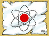 Cartoon: Japan faces nuclear disaster (small) by Satish Acharya tagged japan,nuclear,tsunami,earthquake