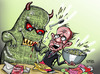 Cartoon: Media Monster (small) by Satish Acharya tagged rupert,murdoch,hackgate