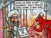 Cartoon: Osama faces identity crisis (small) by Satish Acharya tagged osama,obama,usa