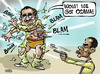 Cartoon: Osama killed in Pakistan (small) by Satish Acharya tagged osama,obama,pakistan,zardari