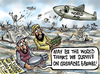 Cartoon: Pakistan and the World! (small) by Satish Acharya tagged pakistan,floods