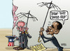 Cartoon: US debt ceiling raised (small) by Satish Acharya tagged usa,debt,obama