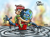 Cartoon: World Oil Crisis (small) by Satish Acharya tagged arab,world,libya,gaddafi,oil,crisis