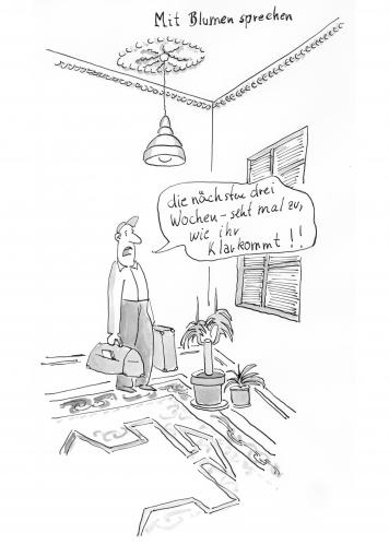 mit blumen sprechen von polo philosophie cartoon toonpool. Black Bedroom Furniture Sets. Home Design Ideas
