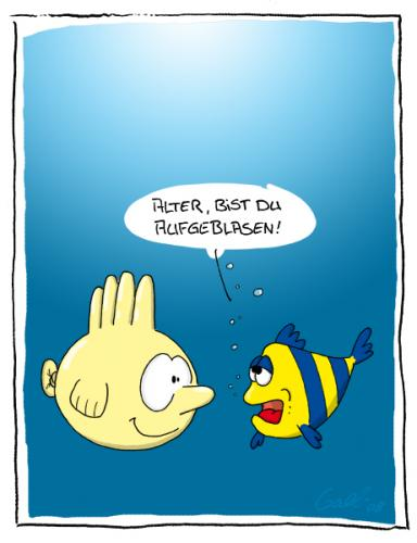 Cartoon: Fred der Handschuhfisch (medium) by gallion tagged gallion,toon,cartoon,tierisch,animals,fisch,handschuh,wasser,meer,glove,water,fish