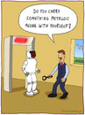 Cartoon: airport control (small) by fcartoons tagged airport,control,robot,beep,metal