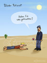 Cartoon: blöder Polizist (small) by fcartoons tagged blöd,polizist,policeman,sonne,cartoon,lustig,kontrolle,ertrinken,wasser,water,cactus,kaktus,hot,heiss