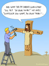 Cartoon: DO YOUR THING! (small) by fcartoons tagged cartoon,cross,do,your,thing,handy,hammer,jesus,mach,dein,ding,nagel,nageln,ladder,man,nail,worker