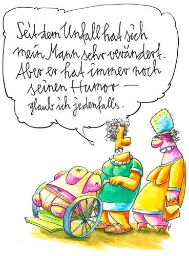 Cartoon: Humor (medium) by OL tagged humor,couple,paar,accident,unfall