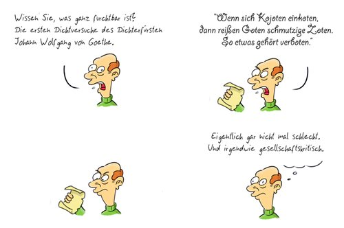 Cartoon: Kommentar12 (medium) by Rob tagged commentary,kommentar,guy,typ,johann,wolfgang,von,goethe,dichter