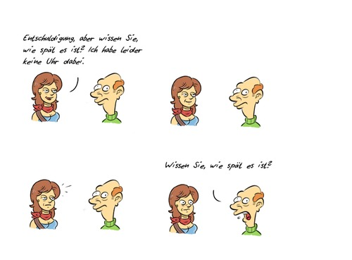Cartoon: Kommentar32 (medium) by Rob tagged guy,commentary,time,zeit,uhr