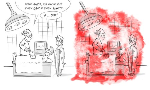 Cartoon: Lustige Sachen mit Blut (medium) by Rob tagged blood,blut,op,operation,arzt,doctor,docter,nurse,chirurg,patient,rob