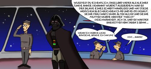 Cartoon: Respektverlust (medium) by Rob tagged star,wars,darth,vader,anakin,skywalker