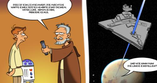 Cartoon: Star wars again (medium) by Rob tagged star,wars,luke,skywalker,obi,wan,tatooine